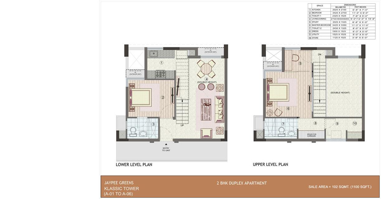 Jaypee greens for 5 bhk duplex floor plan